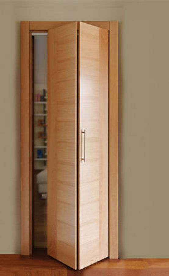 Puertas plegables de madera pictures to pin on pinterest for Puerta corredera interior madera
