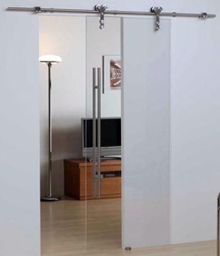 Instalar puertas correderas de cristal para sal n - Como instalar una puerta corredera ...