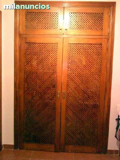 Puertas madera de celosia armario santa cruz de tenerife for Presupuesto puertas de madera