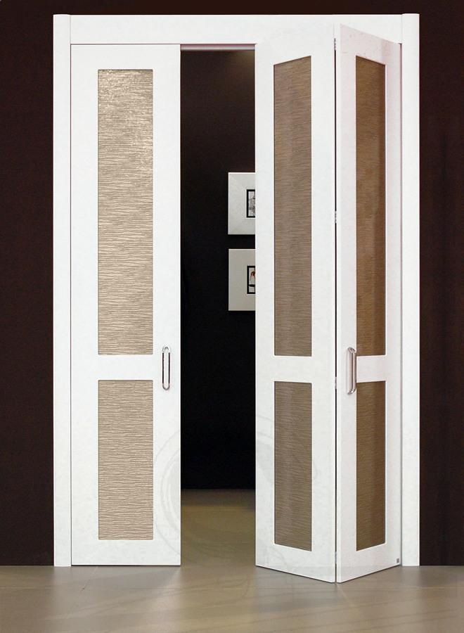 Puertas plegables de lama ancha en blanco castro for Precio de puertas plegables