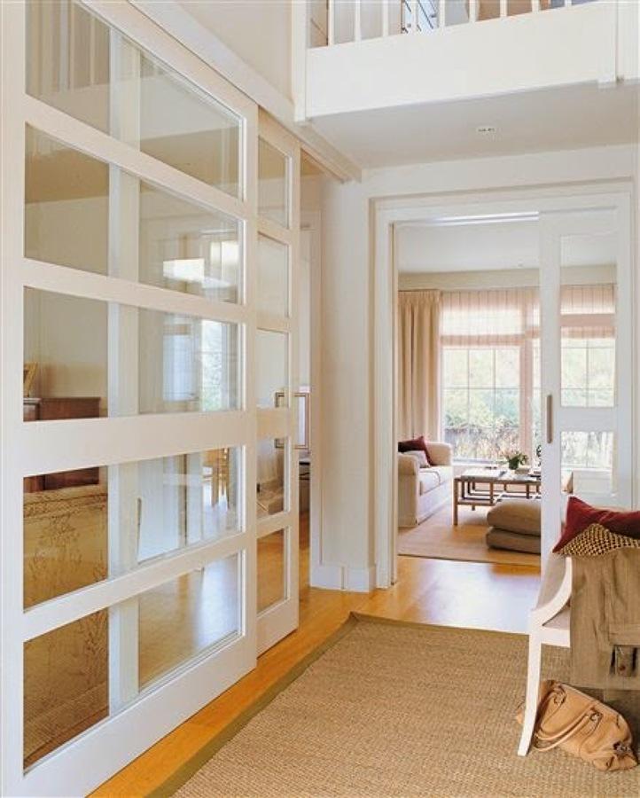 Tabique en madera y cristal pacifico madrid madrid - Puertas correderas con cristal ...