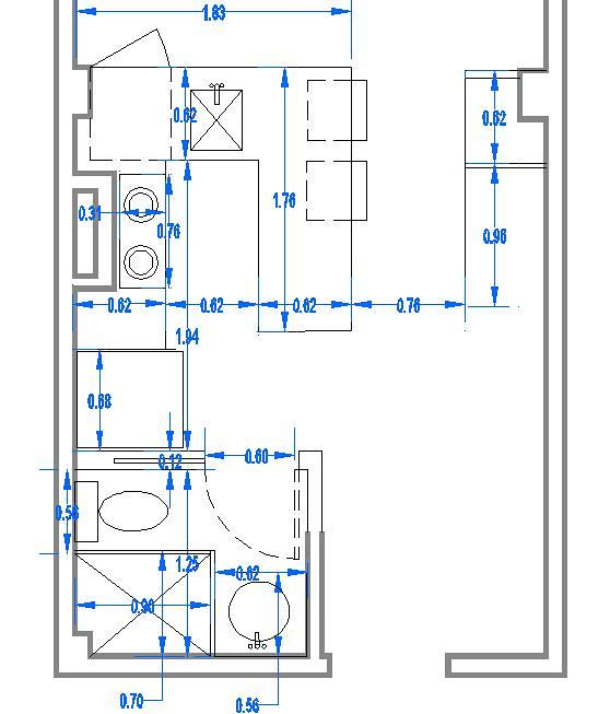 Reforma ba o cocina peque a area palma de mallorca for Dimensiones cocina integral