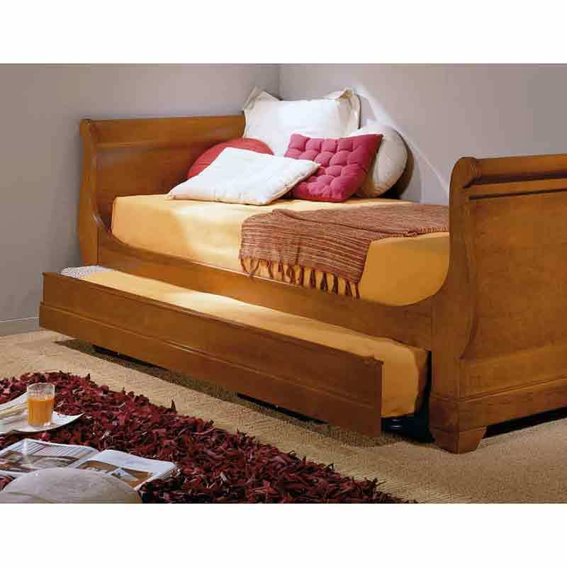 Porte de div n cama nido de madera madrid madrid for Cama nido color madera