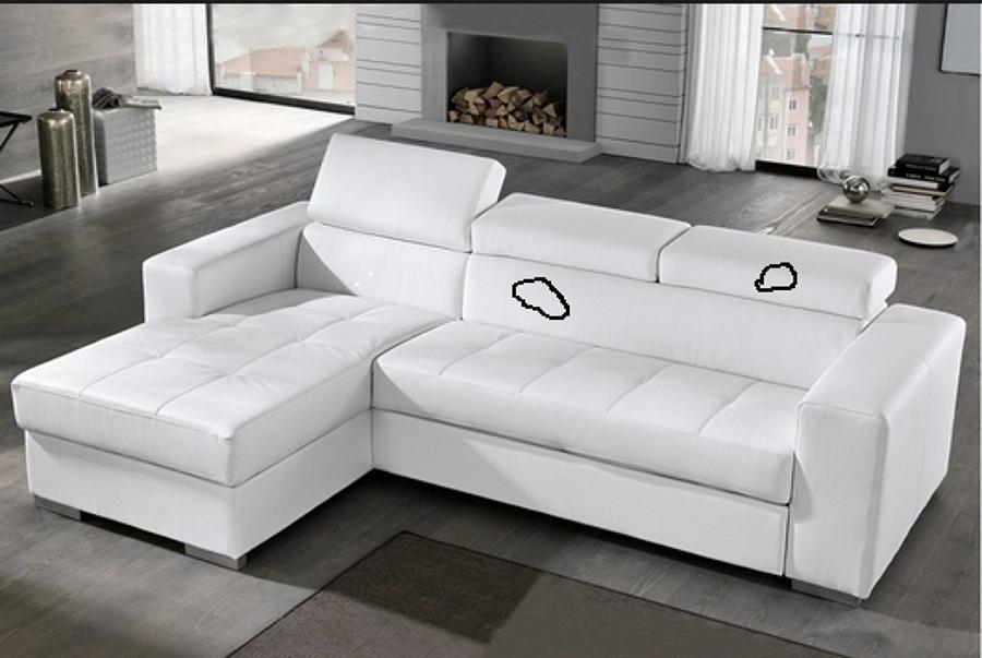 Sofa de polipiel negro mate con mancha de producto - Tapizar sofa barcelona ...