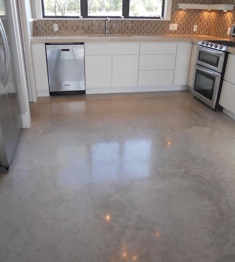 Lavar suelo de cemento 50m2 con salfuman y sellar con - Suelo hormigon pulido precio ...
