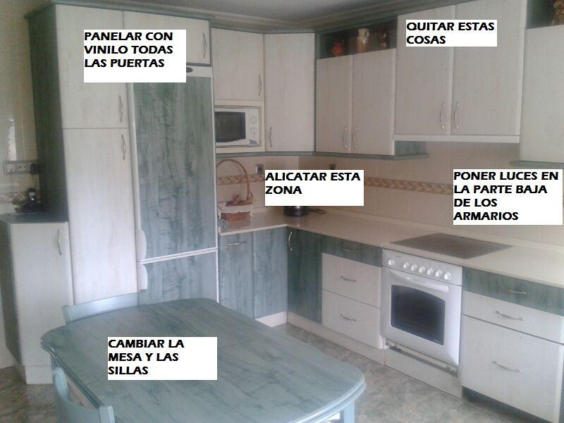 Forrar con vinilo armarios de cocina urduliz vizcaya - Vinilo muebles cocina ...
