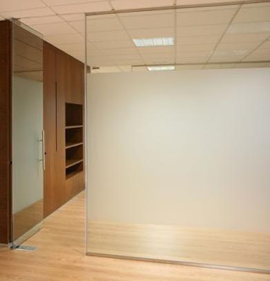 Tabique de vidrio para separaci n de oficina con puertas - Tabique de vidrio ...