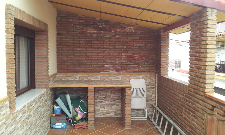Cierre con carpinter a de aluminio para hacer trastero en - Puertas de terraza ...