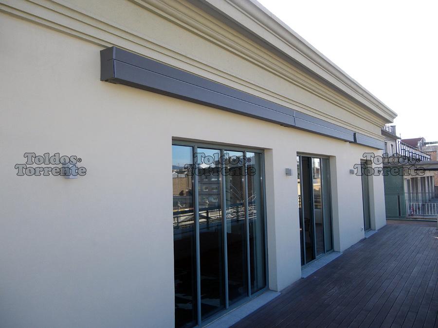 Instalar toldo en terraza sencelles illes balears for Brazos para toldos precios
