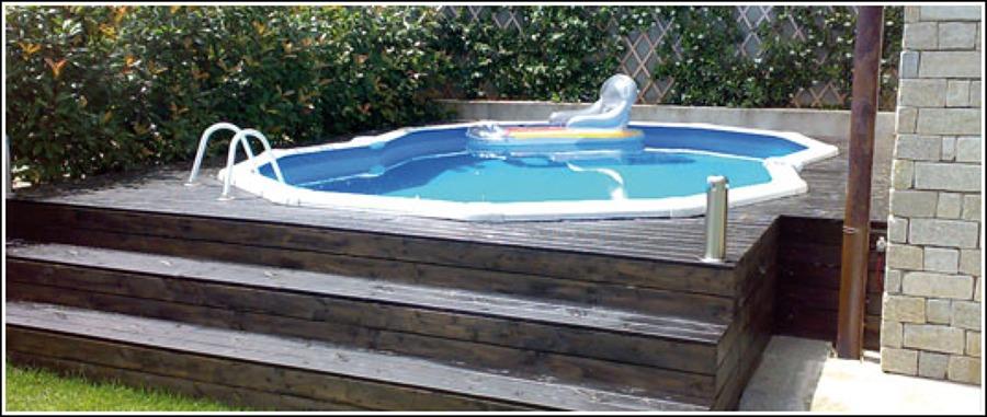 Integrar una piscina desmontable en una base de madera for Piscinas prefabricadas desmontables