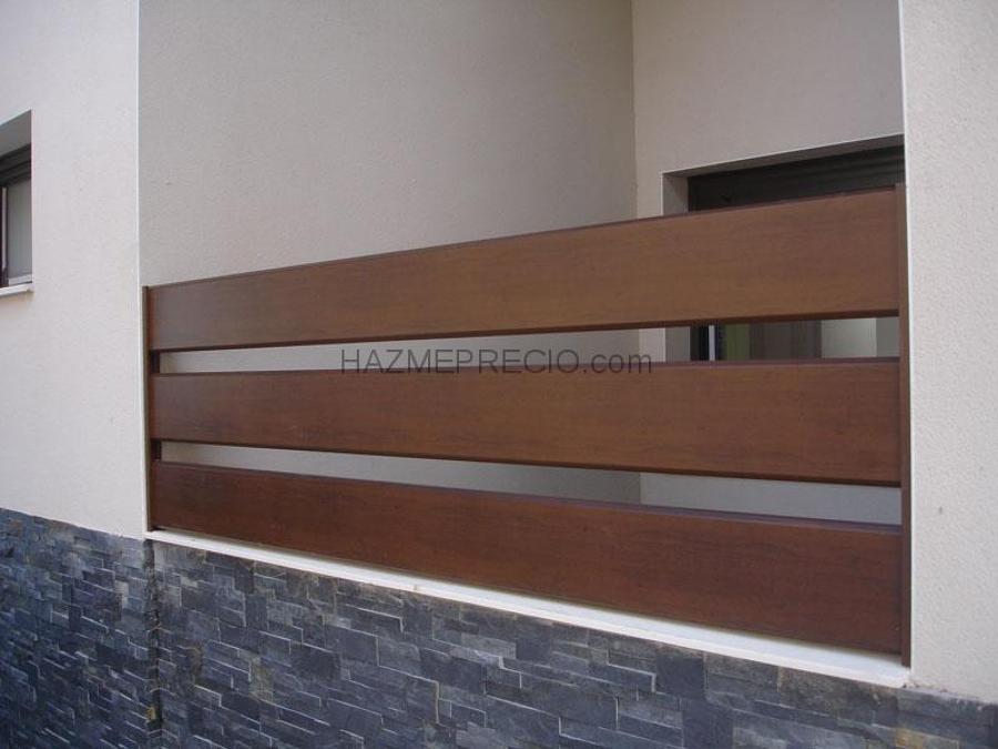 Cierre aluminio imitacion madera l minas nar n a - Cierres de madera ...