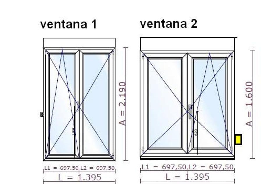 Cambiar dos ventanas de aluminio correderas por dos de pvc for Precio ventanas aluminio a medida