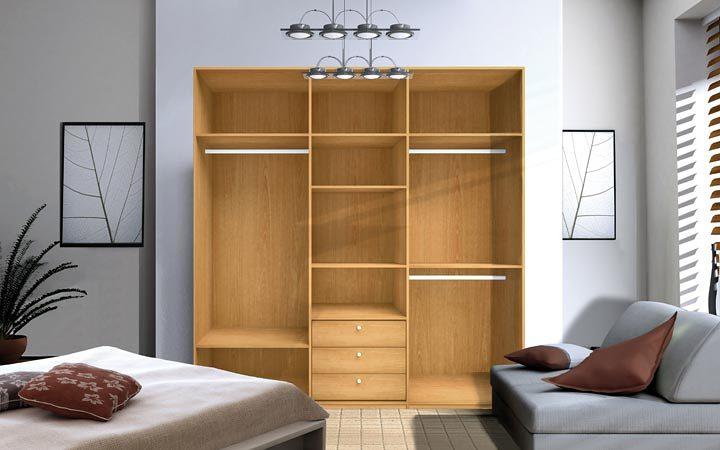 Hacer armario para dormitorio de 2 2 m x 2 2 m x 0 5 m - Como distribuir un armario ...