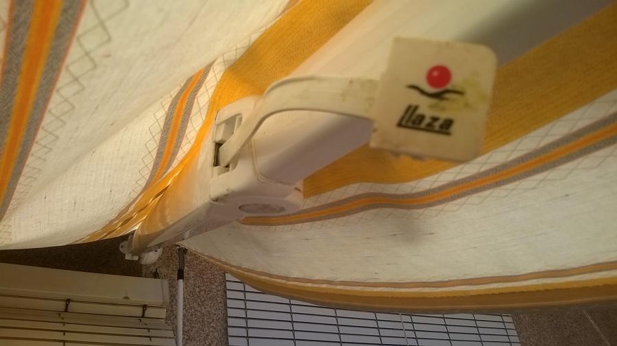 reparar brazo toldo articulado marca llaza cartagena