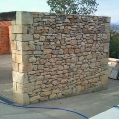 Precio metro lineal muro mamposter a con mortero alcoy - Hacer pared de piedra ...
