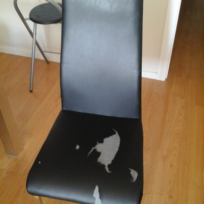 Tapizar sillas polipiel campoamor alcantarilla murcia - Cuero para tapizar ...