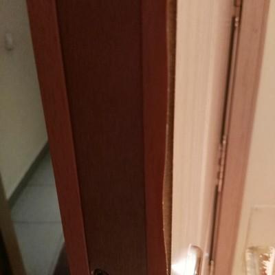 Restaurar la puerta de entrada al piso y lacar en blanco for Restaurar puertas de interior