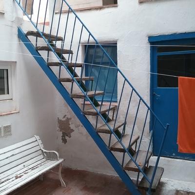 hacer escalera caracol exterior molins de rei barcelona