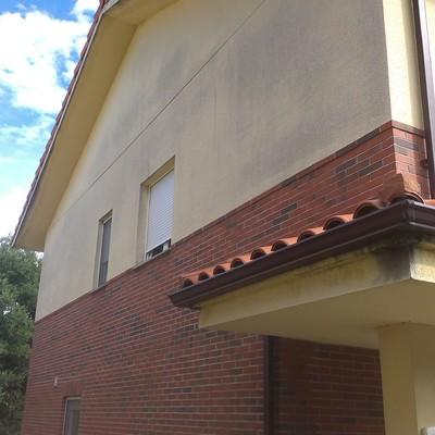 Pintar fachada vicryl en chalet de 3 alturas las for Presupuesto pintar fachada chalet