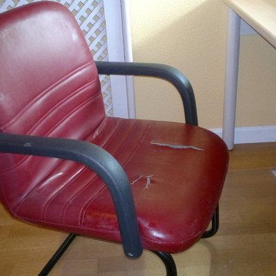 Tapizar silla de oficina peque a no sill n polipiel majadahonda madrid habitissimo - Presupuesto tapizar sillas ...