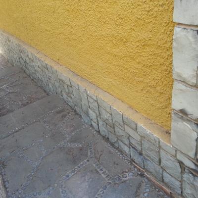 revestimiento 30 metros lineales zocalo exterior fachada