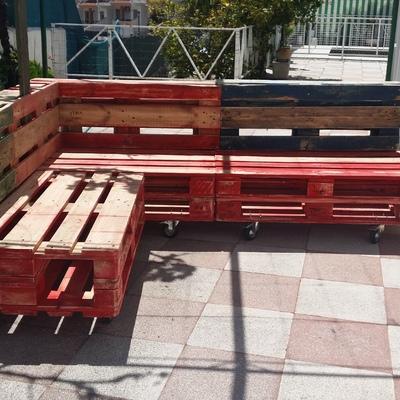Asiento y respaldo sofa de palets alfacar granada - Tapiceros en granada ...