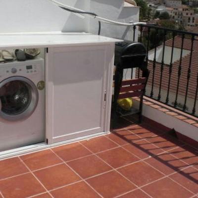 Mueble para lavadora y secadora cuarte de huerva for Mueble lavadora secadora