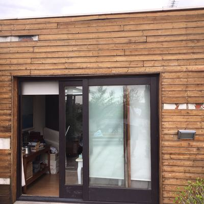 Revestimiento madera fachada exterior madrid madrid - Revestimientos de fachadas precios ...