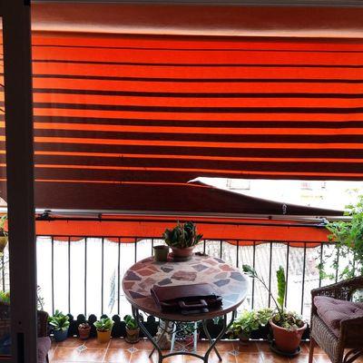 Cambio de tela de toldo balc n de malaga m laga for Precio toldos balcon