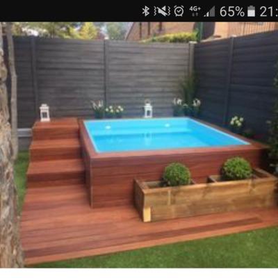Instalar mini piscina exterior forrada de madera rivas for Madera para piscinas
