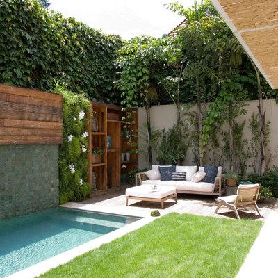 Piscina para jardin peque o cal cego tarragona for Jardines pequenos con piscina