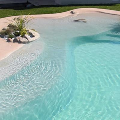 Hacer una piscina tipo playa hoya morena murcia for Costo de construir una piscina