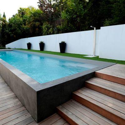 Construir piscina otros materiales arroyo torero madrid for Piscina elevada rectangular