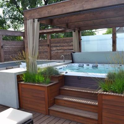 Instalar jacuzzi exterior con mueble barakaldo vizcaya for Precio de jacuzzi exterior