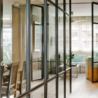 Puertas cristal hierro cuarteado interior estilo - Puertas interior cristal ...