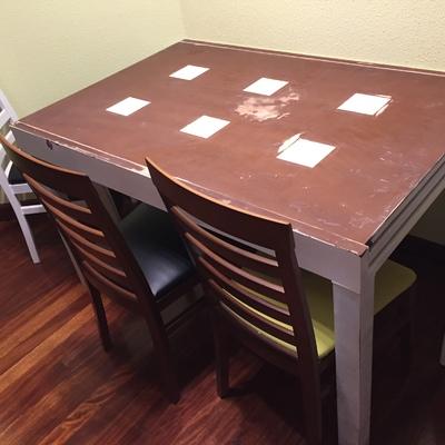 Lacar mesa de madera extensible de comedor bilbao - Lacar una mesa ...