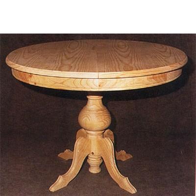 Decapar una mesa de comedor redonda de madera altafulla for Mesas de comedor redondas extensibles de madera