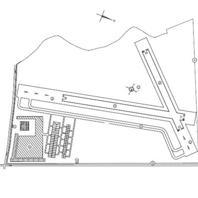 Aerodromo de Taragudo plano de replanteo