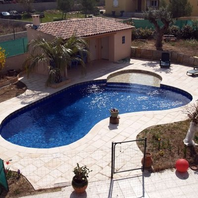 Construcci n piscina gresite collado villalba madrid for Piscina villalba