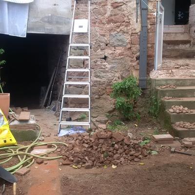 Reforma integral de casa antigua t pica catalana sant for Precio reforma integral casa antigua