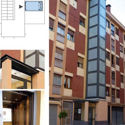 Instalaci n ascensor por fachada colindres cantabria - Precio instalacion ascensor ...