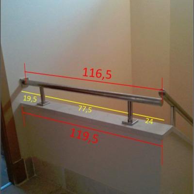Subir barandilla escalera para evitar ca das seguridad - Barandilla escalera ninos ...