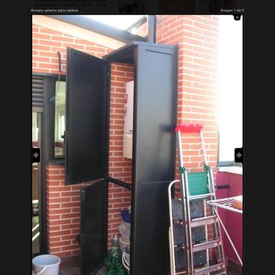 Armario aluminio cubre caldera exterior madrid madrid - Armario cubre calderas ...