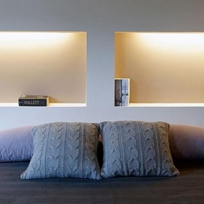 Pared y mueble de pladur en cabecero de cama - Barajas, Madrid ...
