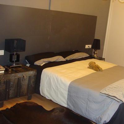 Colocar friso mdf aislante termico sobre un cabecero de cama de obra 300 x150 zaragoza - Camas de obra ...