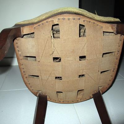 Tapizar 6 sillas antiguas y una butaca almacelles - Precio tapizar sillas ...