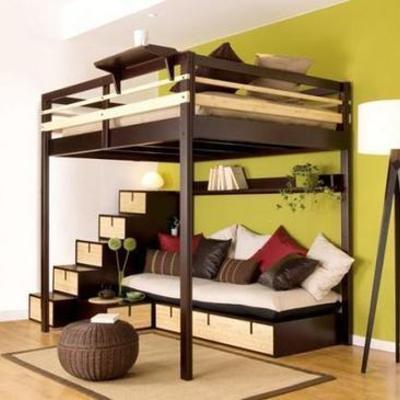 Cama alta matrimonio madera cabezo de torres murcia for Precio cama matrimonio