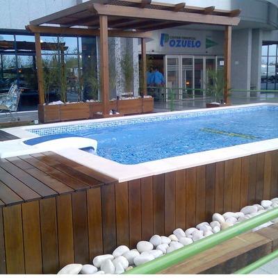 Tarima para piscina desmontable de gres santa pola for Base para piscina desmontable