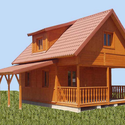 Casa de madera prefabricada la esperanza karting club - Casas rurales prefabricadas ...