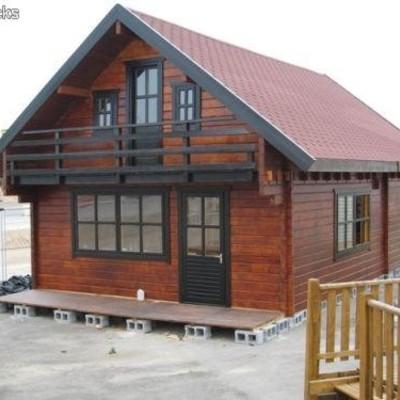 Casa prefabricada de madera de 2 plantas vigo for Habitaciones prefabricadas precios